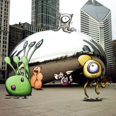The Bean by kudu-lah / Awesome Critter Artwork featuring Monster like characters based in New York City
