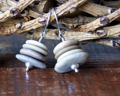 Hey, I found this really awesome Etsy listing at https://www.etsy.com/listing/199679356/cairn-earrings-beach-stone-earrings