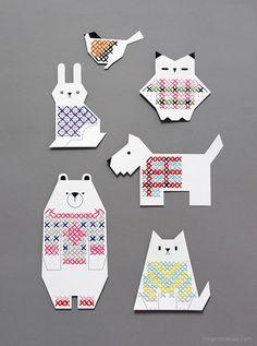 Animal Cross Stitch Cards | Flickr - Photo Sharing!