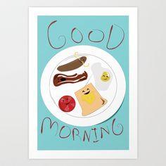 Good Morning Art Print by Elliot Swanson - $13.00
