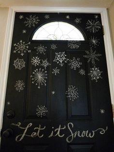 chalkboard paint on the front door