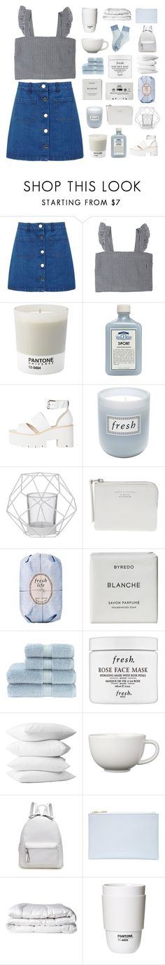 """""""YOU WALK AROUND LIKE YOU OWN THE PLACE"""" by lonelyhearts-clubb ❤ liked on Polyvore featuring Miss Selfridge, Pantone, John Allan's, Fresh, Bloomingville, The Webster, CASSETTE, Byredo, Christy and Falke"""