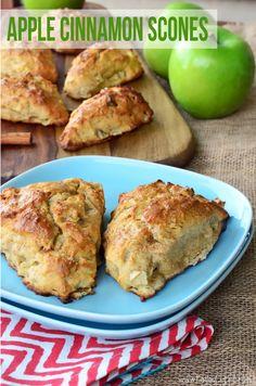Apple Cinnamon Scones by Katie's Cucina on bakedbyrachel.com