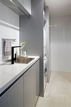 """Outstanding """"laundry room storage diy small"""" info is readily available on our internet site. Laundry Room Cabinets, Laundry Room Organization, Laundry In Bathroom, White Bathroom, Diy Cabinets, Laundry Storage, Modern Laundry Rooms, Laundry Room Inspiration, Small Storage"""