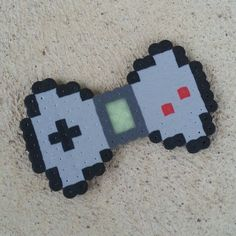 Gameboy bow perler beads by captainamberica