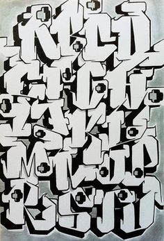 tag lettering alphabet   Cool Graffiti Alphabet Letters by GAR One ...