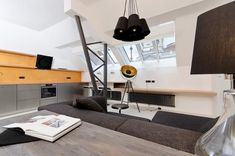 Small Minimalist Black And White Loft In Prague This loft In the centre of Prague, Czech Republic, from OOOOX is a cool Interpretation of the classi...