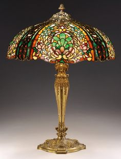 Duffner and Kimberly Co. New York, Stained Glass Lamp Mais