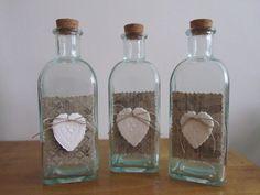 Bottiglie in stile French chic, by ♥La casa di Gaia♥, 15,00 € su misshobby.com