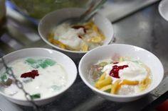 Sữa chua mít ở quán Hoàng Anh số 22 Bà Triệu.