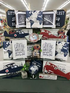 Hobby To Try Free - Active Hobby To Try - Hobby Lobby Candle Holders - Hobby Room Decoration Vintage Airplane Nursery, Aviation Nursery, Airplane Room, Airplane Decor, Aviation Theme, Hobby Lobby, Hobby Room, Nursery Themes, Nursery Room