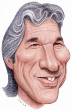 TOONPOOL Cartoons - Richard Gere by Gero, tagged caricature - Category Famous People - rated / Funny Caricatures, Celebrity Caricatures, Celebrity Drawings, Richard Gere, Cartoon Faces, Funny Faces, Cartoon Art, Caricature Artist, Caricature Drawing