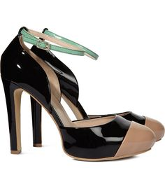 Love the mix of colors....and the ankle strap is killer!