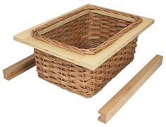 Kitchen wicker basket drawer in three different widths, perfect for traditional shaker style kitchens and ideal for storing vegetables and fresh foodstuffs.