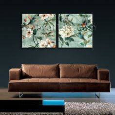HD 2-panel Giclee high-resolution canvas print with floral in contemporary style. It is available in numerous sizes to fit any size room!
