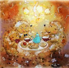 Hedge Hog Tea ~ Anastasia Stolbova