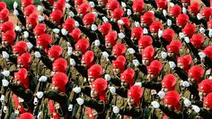 Indian Army's Rajput Regiment marching during Republic Day parade in New Delhi; 2004 [3130  1772]