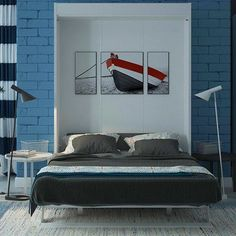 Multimo Multimo Queen Murphy Bed Finish: Gloss White