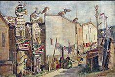 Emily Carr, Indian Village , Alert Bay, 1909 on ArtStack #emily-carr #art