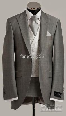 Mens Wedding Suits Custom Wedding Suits Grey Wedding Suits Designer Wedding Suits Groom Suits, $114.24-156.8/Piece | DHgate