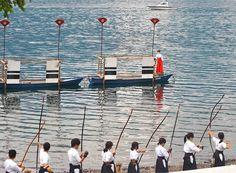 Ogi no Mato Kyudo Taikai - Japanese Archery with Fan Targets on the Water