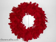 Red Christmas Burlap by thewreaths
