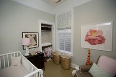Josie's nursery and newborn session - I have the perfect photo to replicate the rose artwork