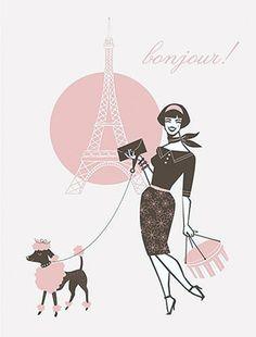 pink poodle~Bonjour!