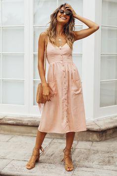 Strange Fruit Midi Dress Pink
