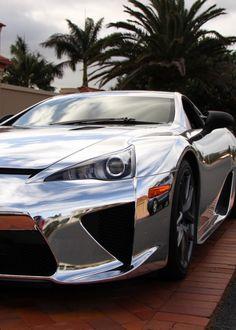 Lexus LFA chrome, full shine whip.