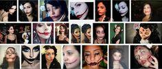 Makeup of Black Dahlia on Halloween : Halloween Makeup Ideas
