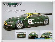 Aston Martin DBR9 Papercraft Car