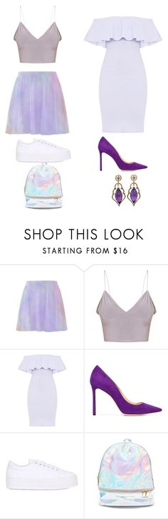 """""""Rapunzel"""" by malucarreiromc ❤ liked on Polyvore featuring Jimmy Choo, No Name, 3 AM Imports and Wayne Smith Jewels"""