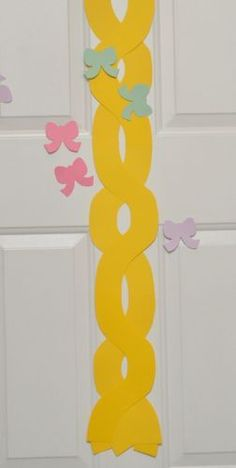 Pin the ribbon on Rapunzel's braid.  What a fun game idea!: