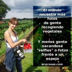 Menys #selfies i més fotos de gent recollint #verdures #slowlife #nomèsselfies @ecocosas