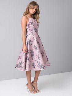 4160e449f67 Lilac Floral Print Midi Dress – The Chi Chi Toriana