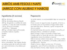 Hoy vamos con una #receta conocida: Arròs amb fesols i naps (Arroz con alubias y nabos en castellano), muy típico de la Comunidad Valenciana. Peligro para personas a dieta... #Arroz contundente!