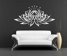Hey, I found this really awesome Etsy listing at https://www.etsy.com/listing/206330146/lotus-wall-decal-vinyl-sticker-decals