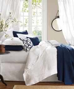 Blue & White Comforter Set