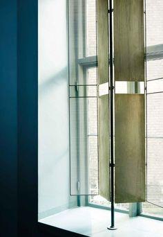 Frama Copenhagen | collaboration between Frama, Nathalie Schwer and local craftsmen Toke Lauridsen for a stunning window divider.