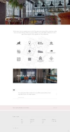 Craft an elegant client showcase and introduce your projects in a mesmerizing way with Entré WordPress theme. #wordpress #webdesign #theme #layout #architecture #architect #interiordesign #decor #homedecoration #portfolio #furniture