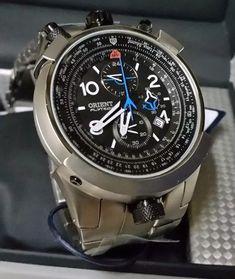 Orient Flytech Aviator MBTTC008 P2GX FULL TITANIUM BULLHEAD Chronograph WR 100m   eBay