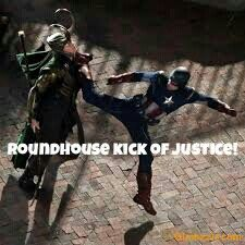 Round house kick of justice make a song pls