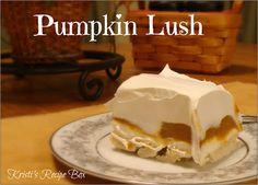 Kristi's Recipe Box: Pumpkin Lush