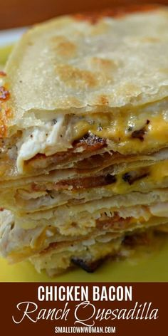 Home Made Doggy Foodstuff FAQ's And Ideas Chicken Bacon Ranch Quesadilla Chicken Bacon Ranch Recipe Quesadilla Lunch Tex Mex Chicken Quesadilla Bacon Ranch Bacon Quesadilla Small Town Woman Mexican Dishes, Mexican Food Recipes, Dinner Recipes, Recipes With Bacon Easy, Tortilla Recipes, Lunch Recipes, Frango Bacon, Comida Latina, Burritos