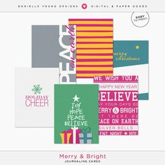 Merry and Bright Journaling Cards
