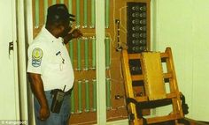 Killing machine: Givens shows the electric chair system that was used to execute inmates before Virginia started using lethal injection. He executed 37 people by electric chair