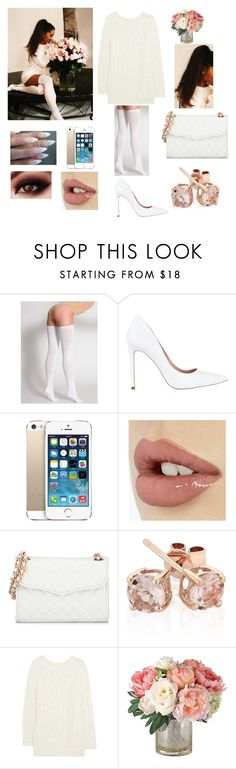 """""""Ariana Grande"""" by telfortsamantha ❤ liked on Polyvore featuring American Apparel, Diavolina, Rebecca Minkoff, Reeds Jewelers and McQ by Alexander McQueen"""