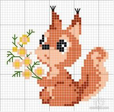 Ideas For Embroidery Designs Free Animals Cute Cross Stitch, Cross Stitch Cards, Cross Stitch Animals, Modern Cross Stitch, Cross Stitch Flowers, Cross Stitch Designs, Cross Stitching, Cross Stitch Embroidery, Embroidery Patterns