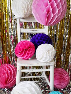 Paper honeycomb balls available from edencelebration.co.uk